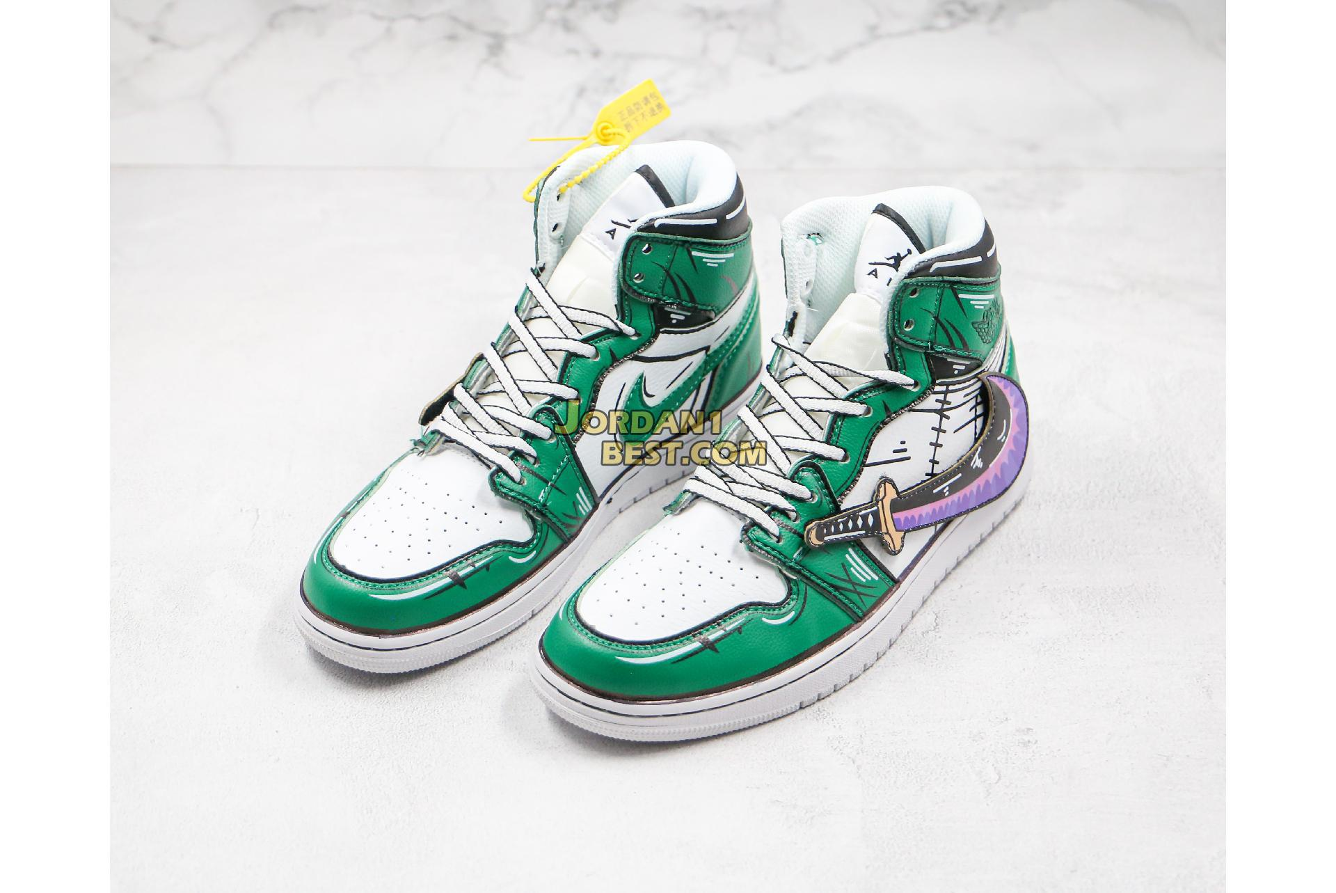 "Air Jordan 1 Mid ""One Piece Green"" 556298-012 Mens Womens"