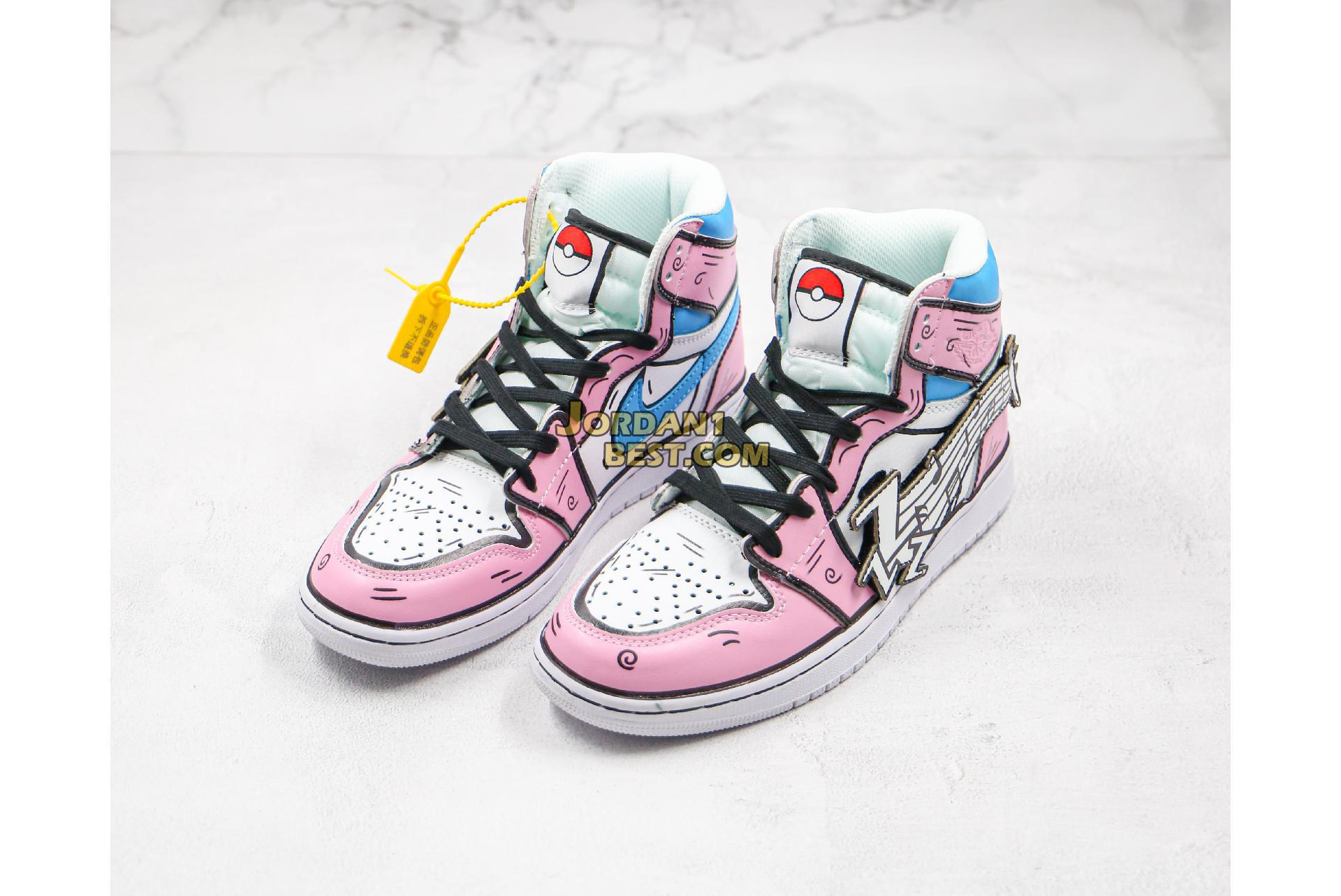 "Air Jordan 1 Mid ""Pokémon Pink"" 556298-003 Womens"