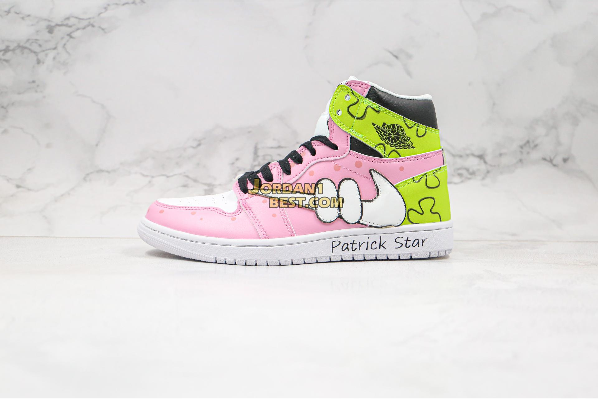 "Air Jordan Retro 1 Mid OG ""SpongeBob Piestar"" 556298-005 Womens"