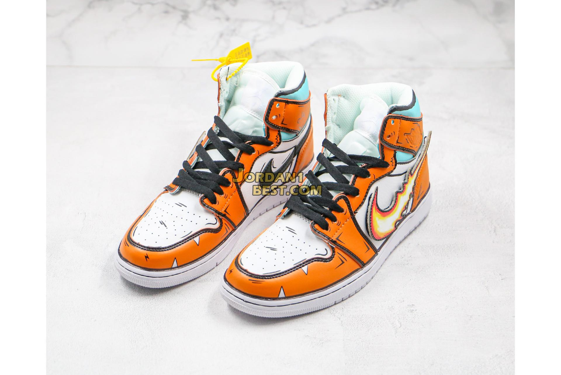 "Air Jordan Retro 1 Mid OG ""Pokemon  Little Fire Dragon"" 556298-008 Mens Womens"