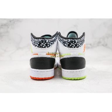 """top 3 fake Air Jordan 1 Mid GS """"Notebook"""" 554725-870 Mens Womens orange/volt-black-white Shoes replicas On Wholesale Sale Online"""
