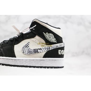 "new replicas 2019 Air Jordan 1 Mid ""Melo SE Equality"" 852542-010 Mens black/black-sail-wolf grey Shoes replicas On Wholesale Sale Online"