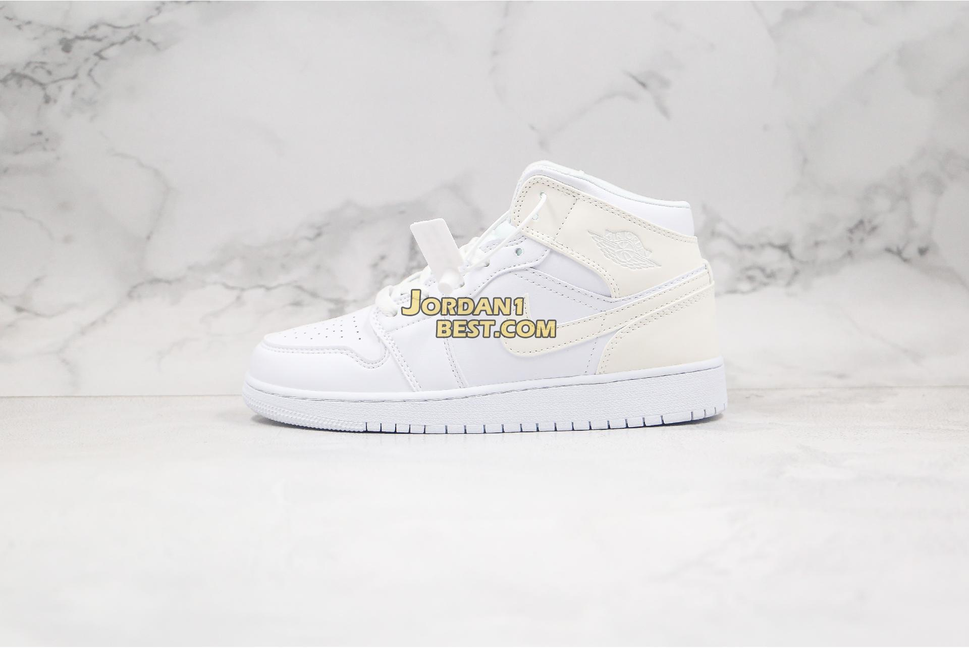 "2020 Air Jordan 1 Mid ""White Ivory"" BQ6472-112 Womens"