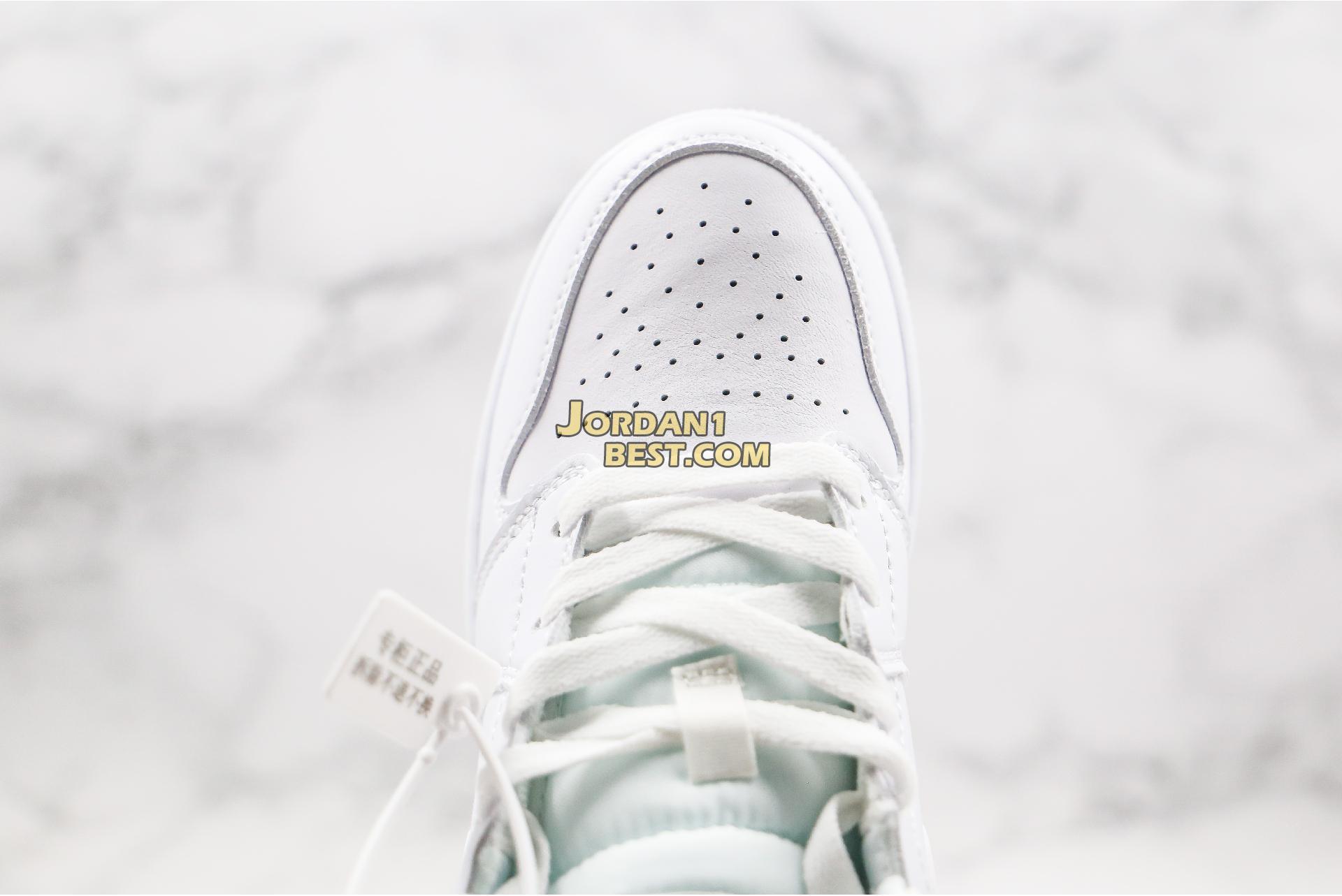 "2020 Air Jordan 1 Mid ""White Ivory"" BQ6472-112 Womens"