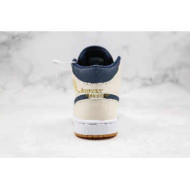 """AAA Quality 2019 Air Jordan 1 Mid """"Jeter"""" AH6342-104 Mens Womens sail/bronze-college navy Shoes replicas On Wholesale Sale Online"""