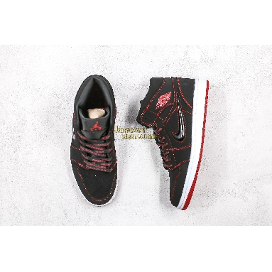 """best replicas 2019 Air Jordan 1 Mid """"Come Fly With Me"""" CK5665-062 Mens Womens black/gym red-white Shoes replicas On Wholesale Sale Online"""