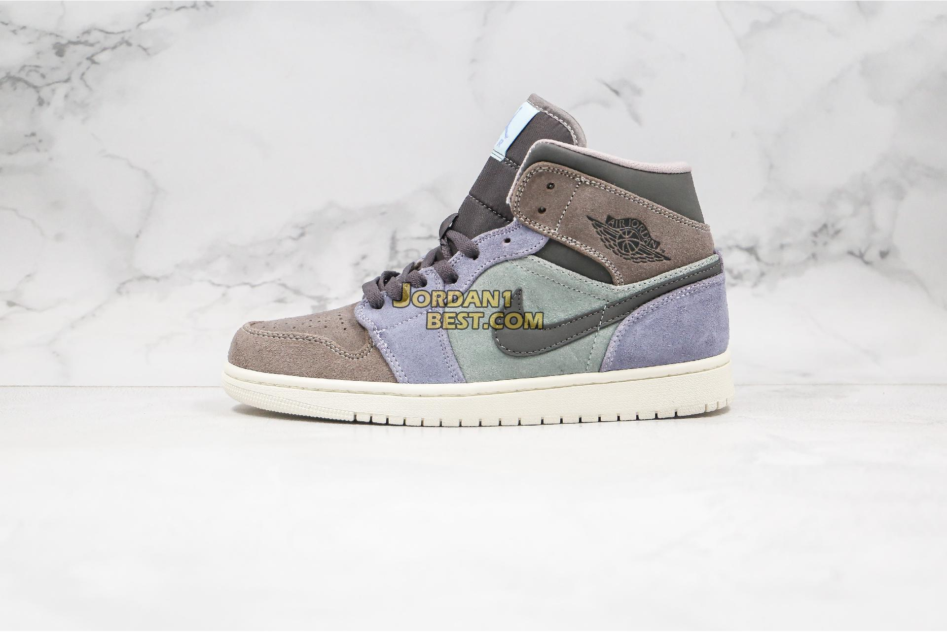 "Air Jordan 1 Mid ""Suede Patch"" 852542-203 Mens Womens"
