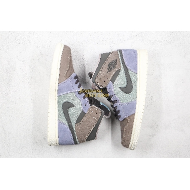 """AAA Quality Air Jordan 1 Mid """"Suede Patch"""" 852542-203 Mens Womens grey/purple/white Shoes replicas On Wholesale Sale Online"""