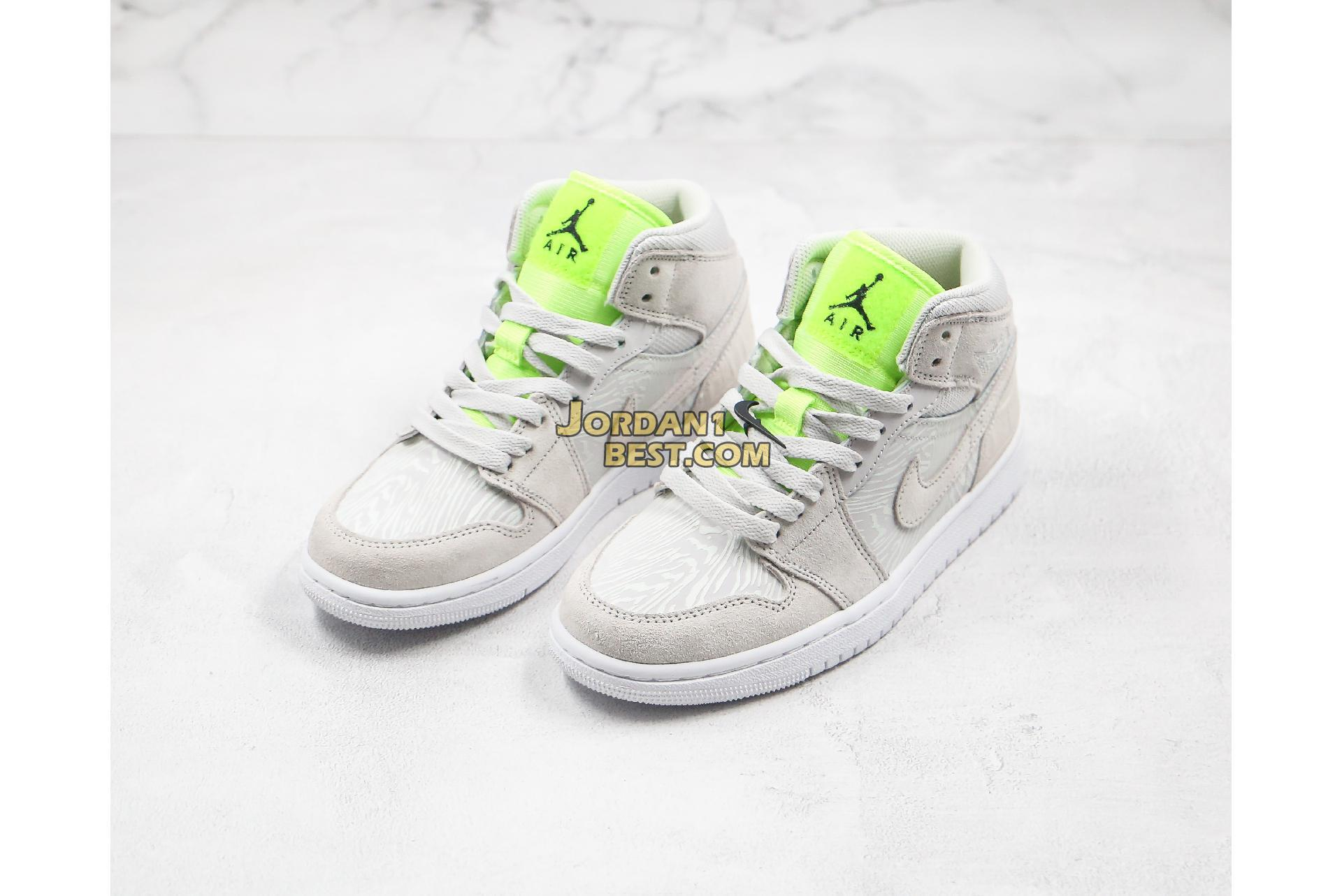 "Air Jordan 1 Mid ""Ghost Green"" CV3018-001 Mens Womens"
