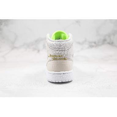"best replicas Air Jordan 1 Mid ""Ghost Green"" CV3018-001 Mens Womens vast grey/ghost green-white Shoes replicas On Wholesale Sale Online"