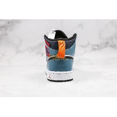 "best replicas 2019 Facetasm x Air Jordan 1 Mid ""Fearless"" CU2802-100 Mens Womens white/black-multi/blue Shoes replicas On Wholesale Sale Online"