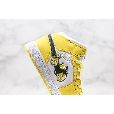 "AAA Quality 2020 Air Jordan 1 Mid SE GS ""Rose Patch - Dynamic Yellow"" AV5174-700 Womens dynamic yellow/black-white Shoes replicas On Wholesale Sale Online"