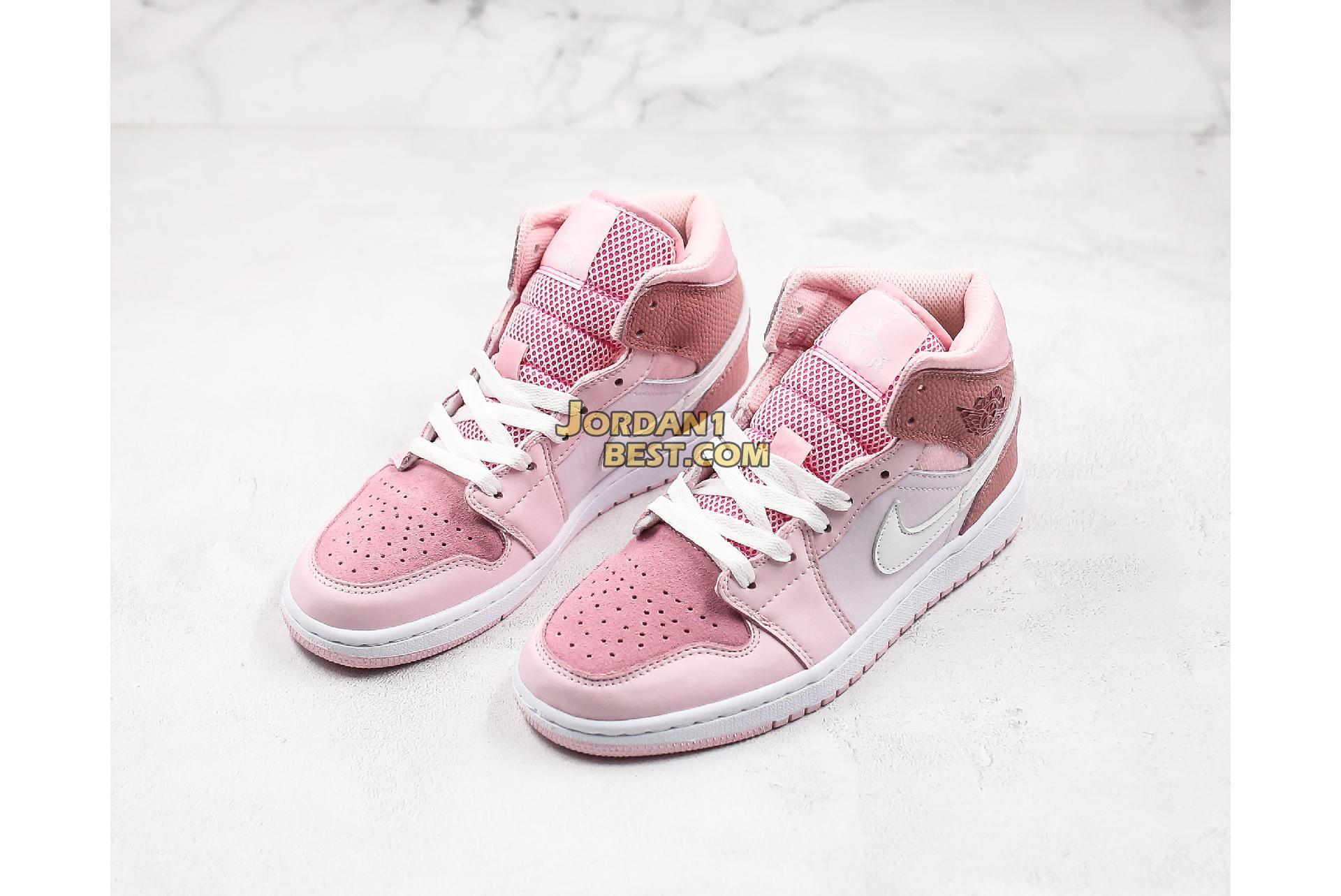 "2020 Air Jordan 1 Mid ""Digital Pink"" CW5379-600 Womens"