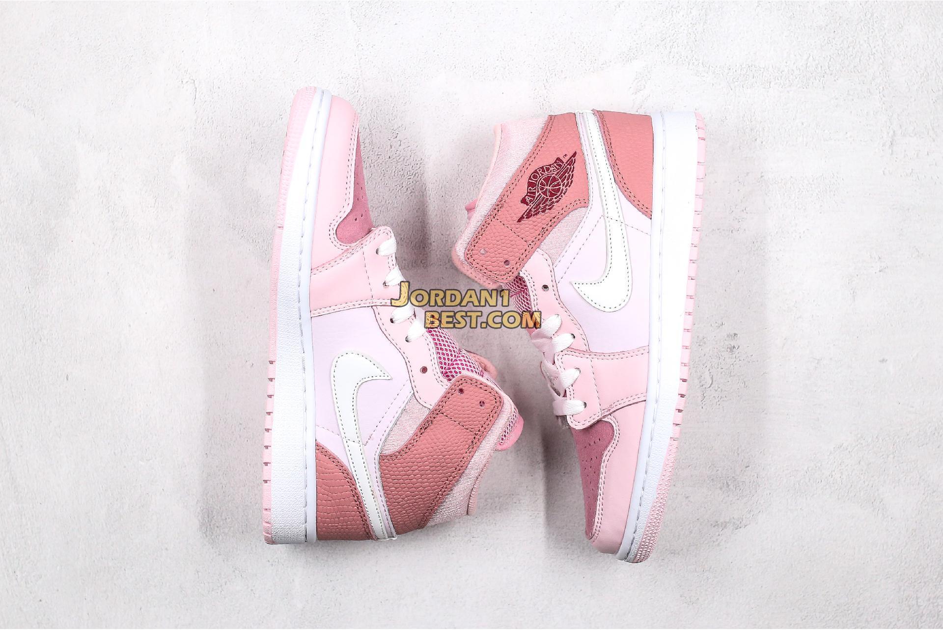 "2020 Air Jordan 1 Mid ""Digital Pink"" CW5379-600 Womens"