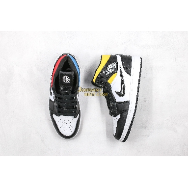 "top 3 fake 2019 Air Jordan 1 Mid ""Quai 54"" CJ9219-001 Mens Womens black/black-white-multi-color Shoes replicas On Wholesale Sale Online"