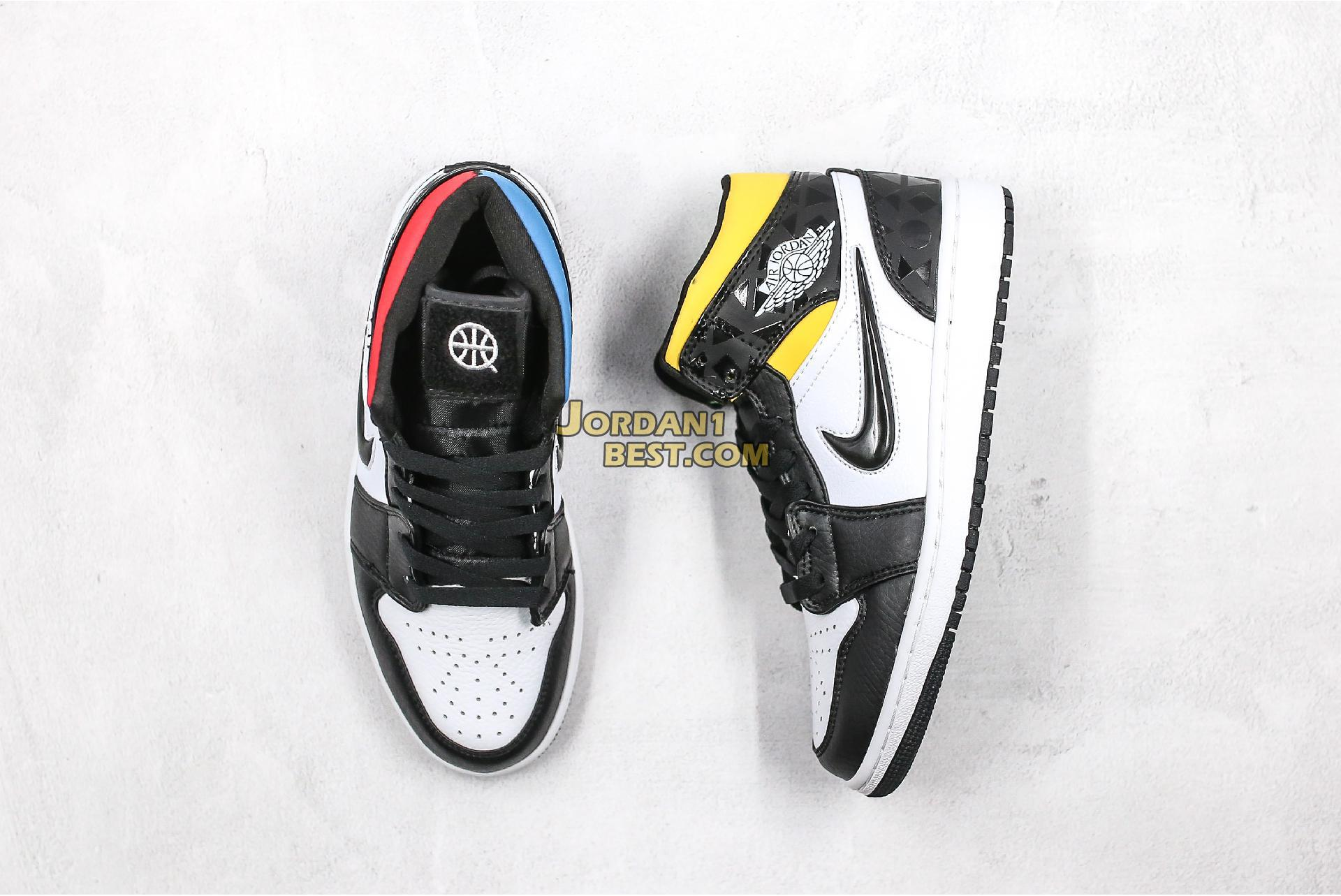 "2019 Air Jordan 1 Mid ""Quai 54"" CJ9219-001 Mens Womens"