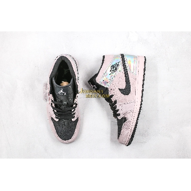 "AAA Quality 2020 Air Jordan 1 Mid ""Iridescent"" BQ6472-602 Mens Womens beige/black Shoes replicas On Wholesale Sale Online"
