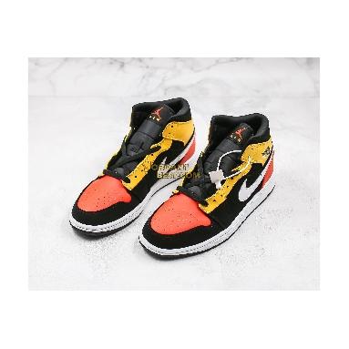 "top 3 fake 2019 Air Jordan 1 Mid SE ""Amarillo"" 852542-087 Mens Womens black/amarillo-white-team orange Shoes replicas On Wholesale Sale Online"