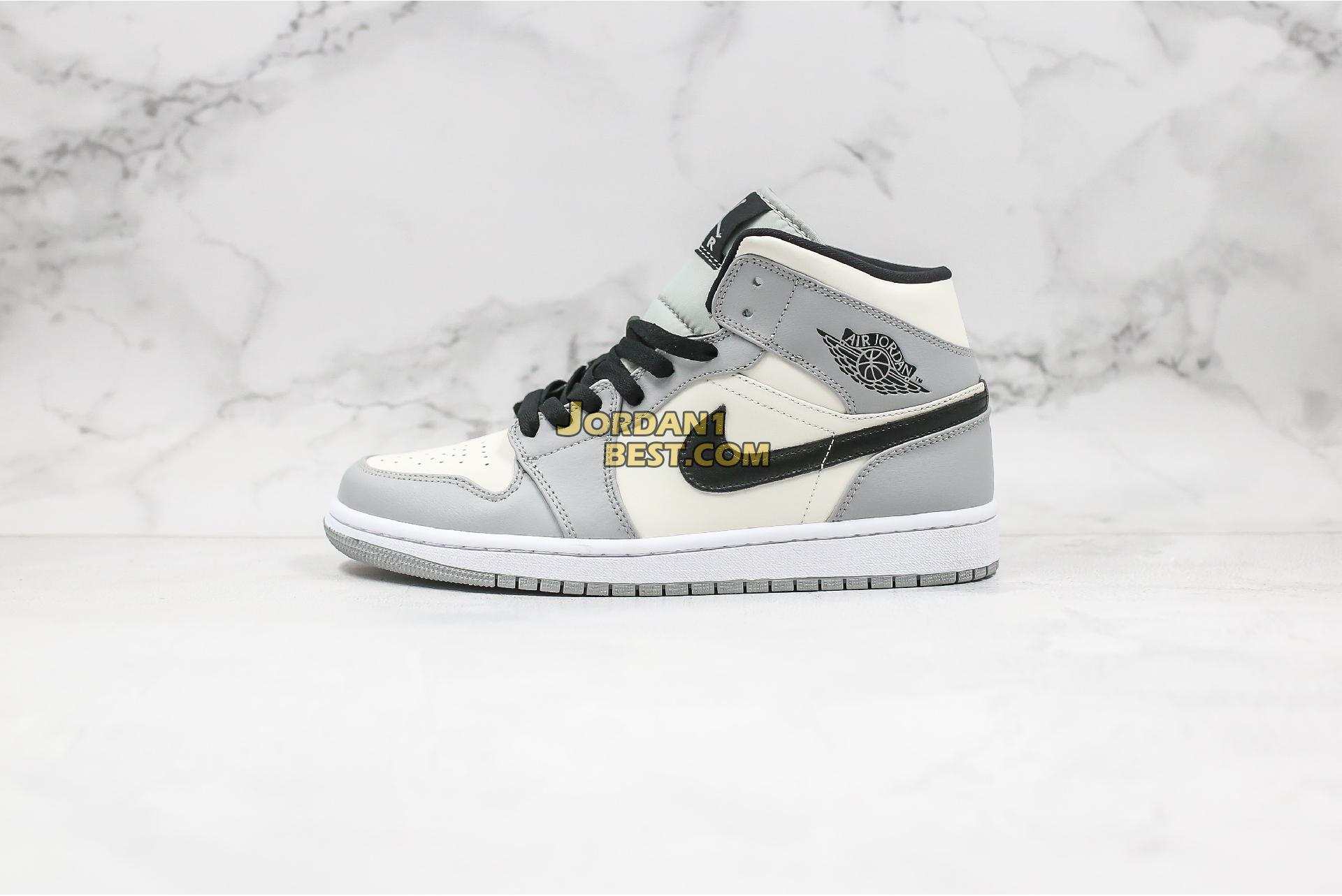 "2020 Air Jordan 1 Mid SE ""Smoke Grey"" 554724-092 Mens Womens"