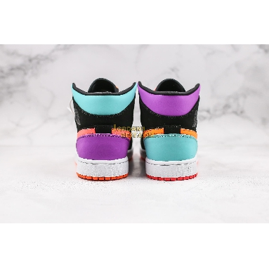 "top 3 fake Air Jordan 1 Mid GS ""Candy"" 554725-083 Mens Womens black/multi-color Shoes replicas On Wholesale Sale Online"