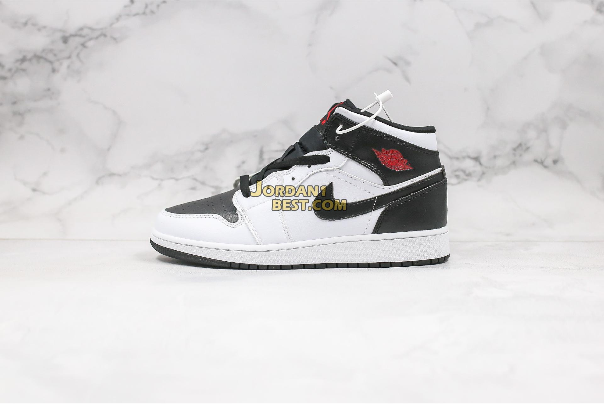 "Air Jordan 1 Mid ""White Black"" BQ6472-101 Mens Womens"