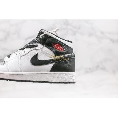 "top 3 fake Air Jordan 1 Mid ""White Black"" BQ6472-101 Mens Womens white/gym red-black Shoes replicas On Wholesale Sale Online"