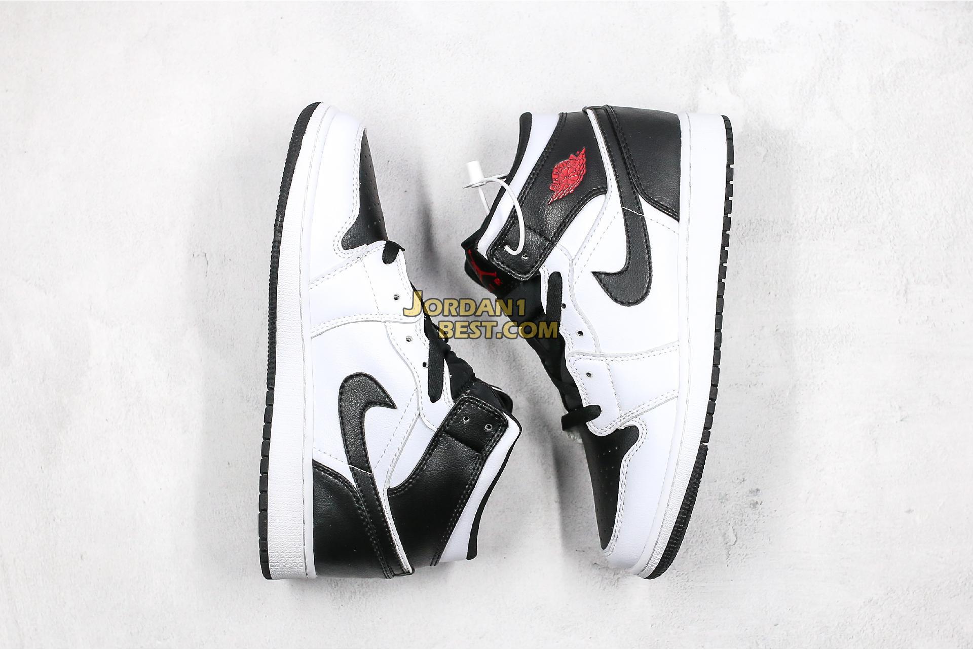 "Air Jordan 1 Mid ""White Black"" BQ6472-101 Mens Womens"