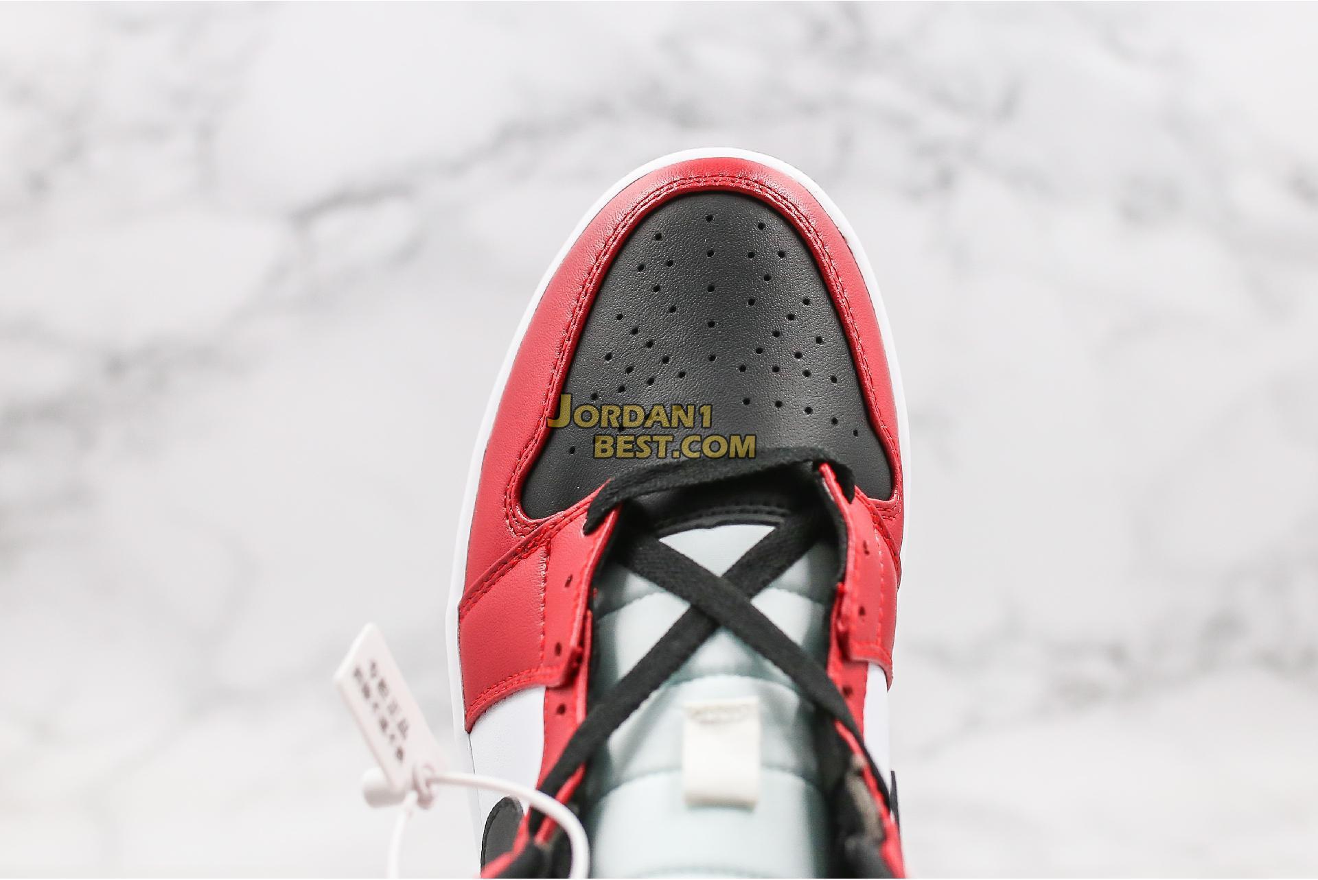 "2020 Air Jordan 1 Mid ""Chicago Black Toe"" 554724-069 Mens Womens"