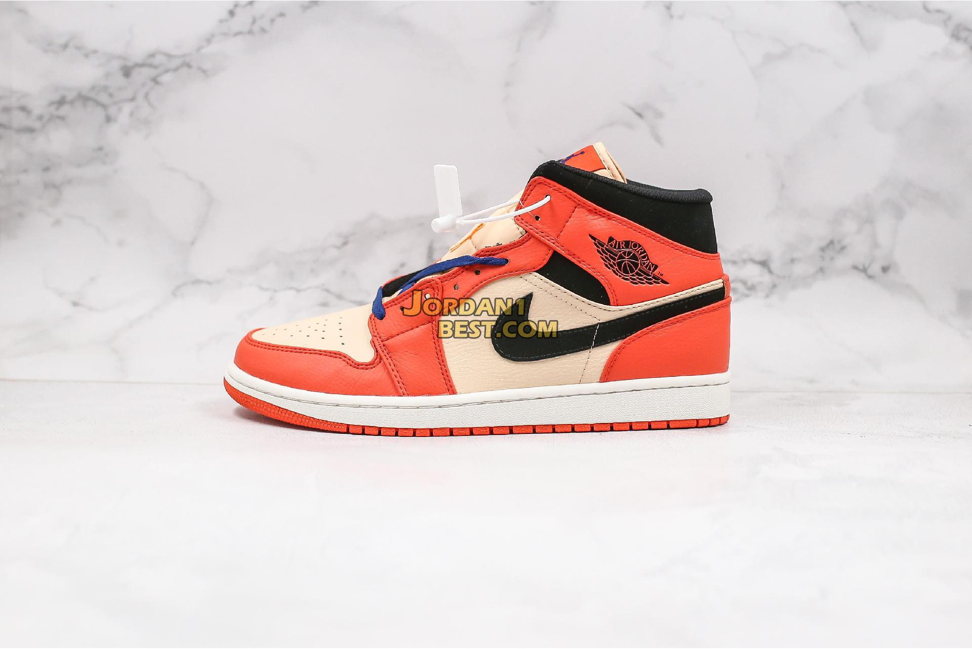 "Air Jordan 1 Retro Mid SE ""Team Orange"" 852542-800 Mens Womens"