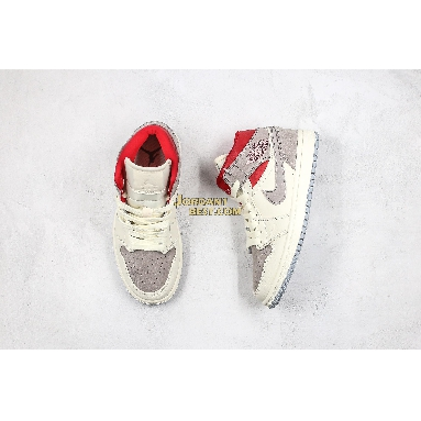 """best replicas Sneakersnstuff x Air Jordan 1 Mid """"Past, Present, Future"""" CT3443-100 Mens Womens sail/wolf grey-gym red-white Shoes replicas On Wholesale Sale Online"""