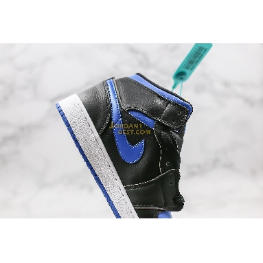 "AAA Quality Air Jordan 1 Mid ""Black Hyper Royal"" 554724-068 Mens Womens black/hyper royal-white Shoes replicas On Wholesale Sale Online"