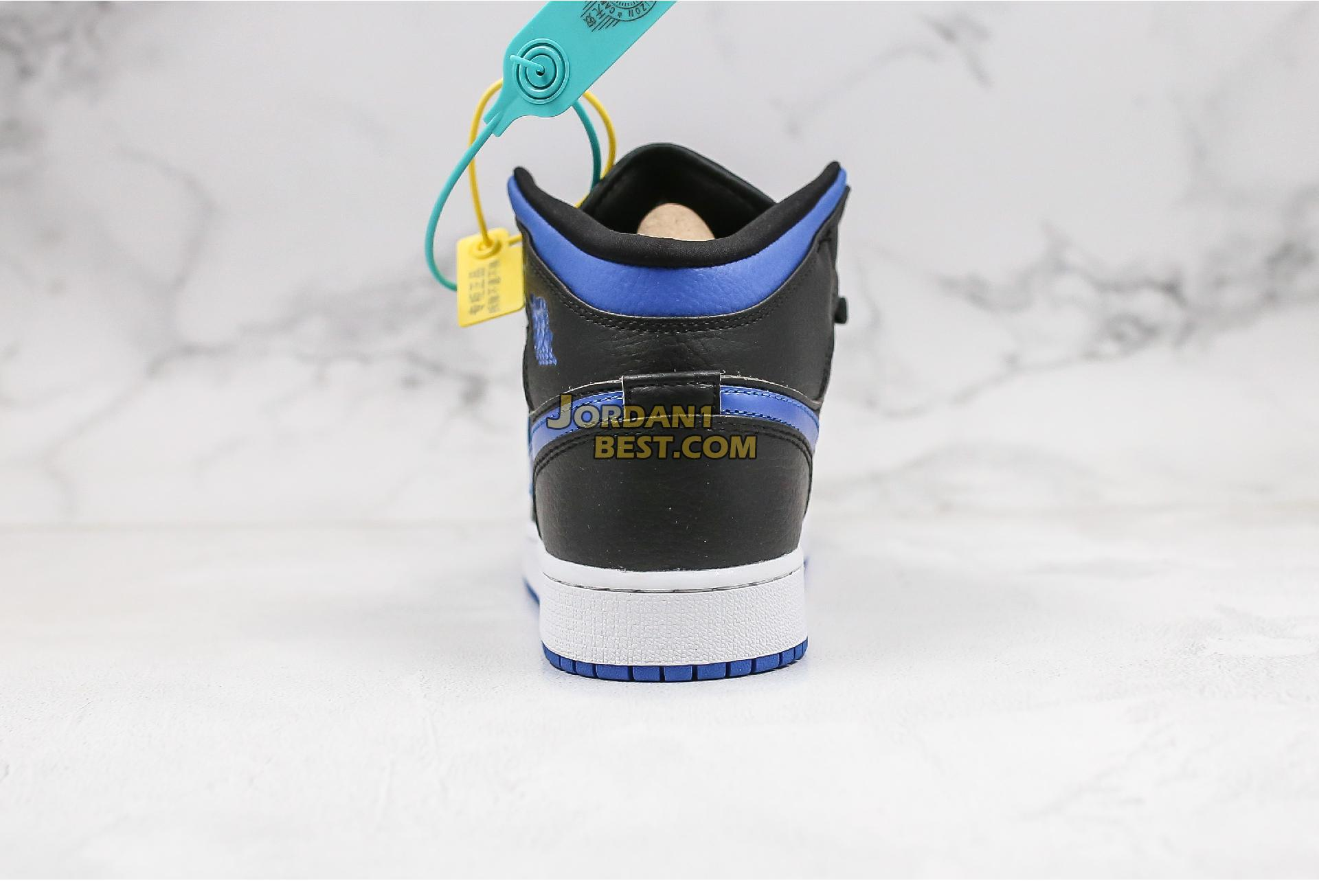 "Air Jordan 1 Mid ""Black Hyper Royal"" 554724-068 Mens Womens"