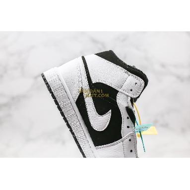 "fake Air Jordan 1 Retro Mid ""Tuxedo"" 554724-113 Mens Womens white/black-white Shoes replicas On Wholesale Sale Online"