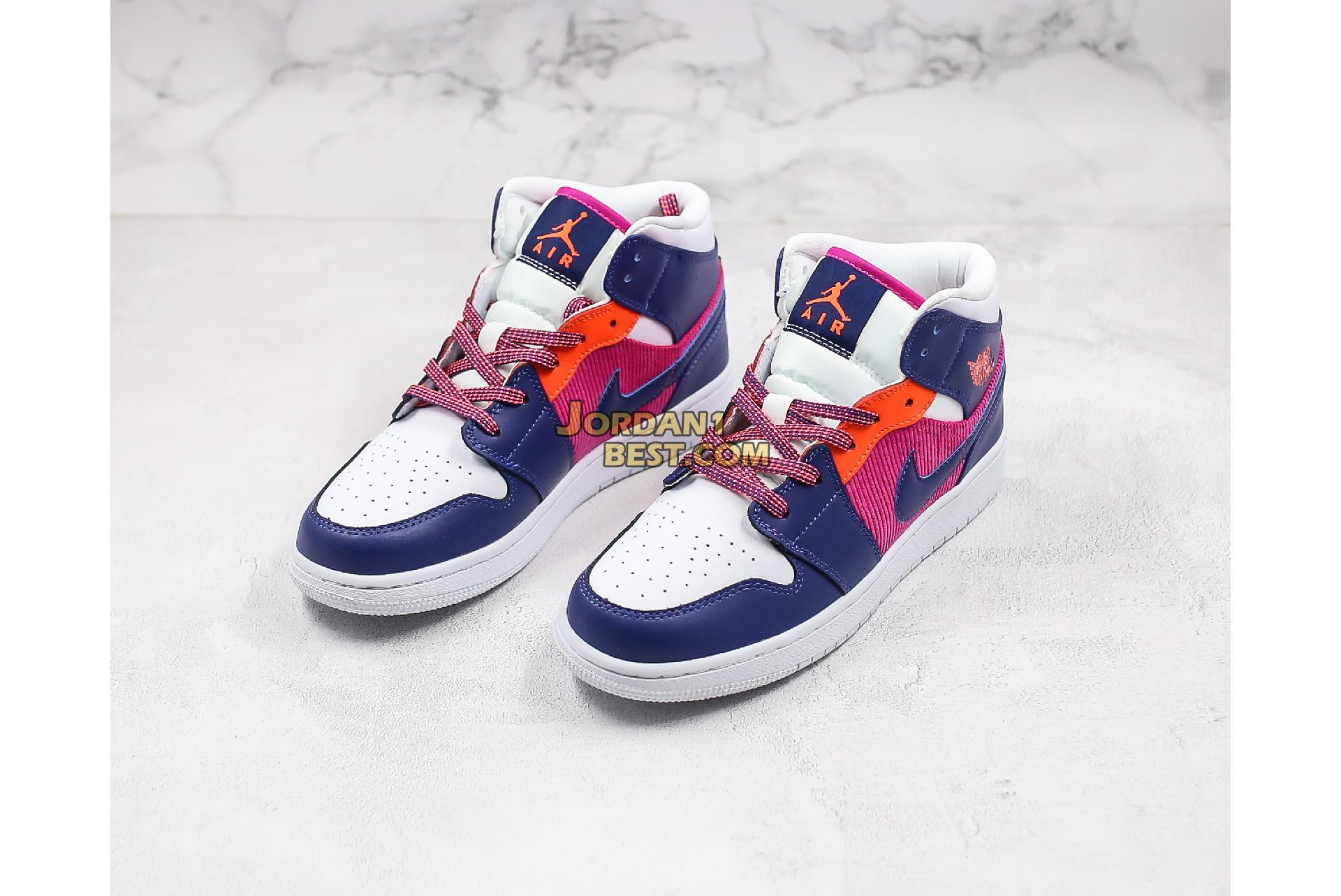 "Air Jordan 1 Mid GS ""Fire Pink"" 555112-602 Womens"