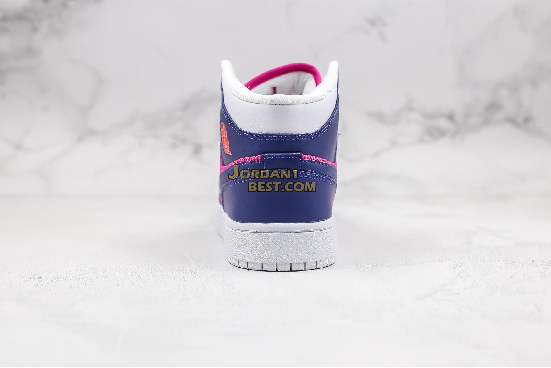 """Air Jordan 1 Mid GS """"Fire Pink"""" 555112-602 Womens"""