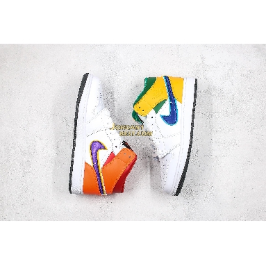 """AAA Quality Air Jordan 1 Mid GS """"White Court Purple Teal"""" 554725-128 Womens white/court purple-spirit teal Shoes replicas On Wholesale Sale Online"""