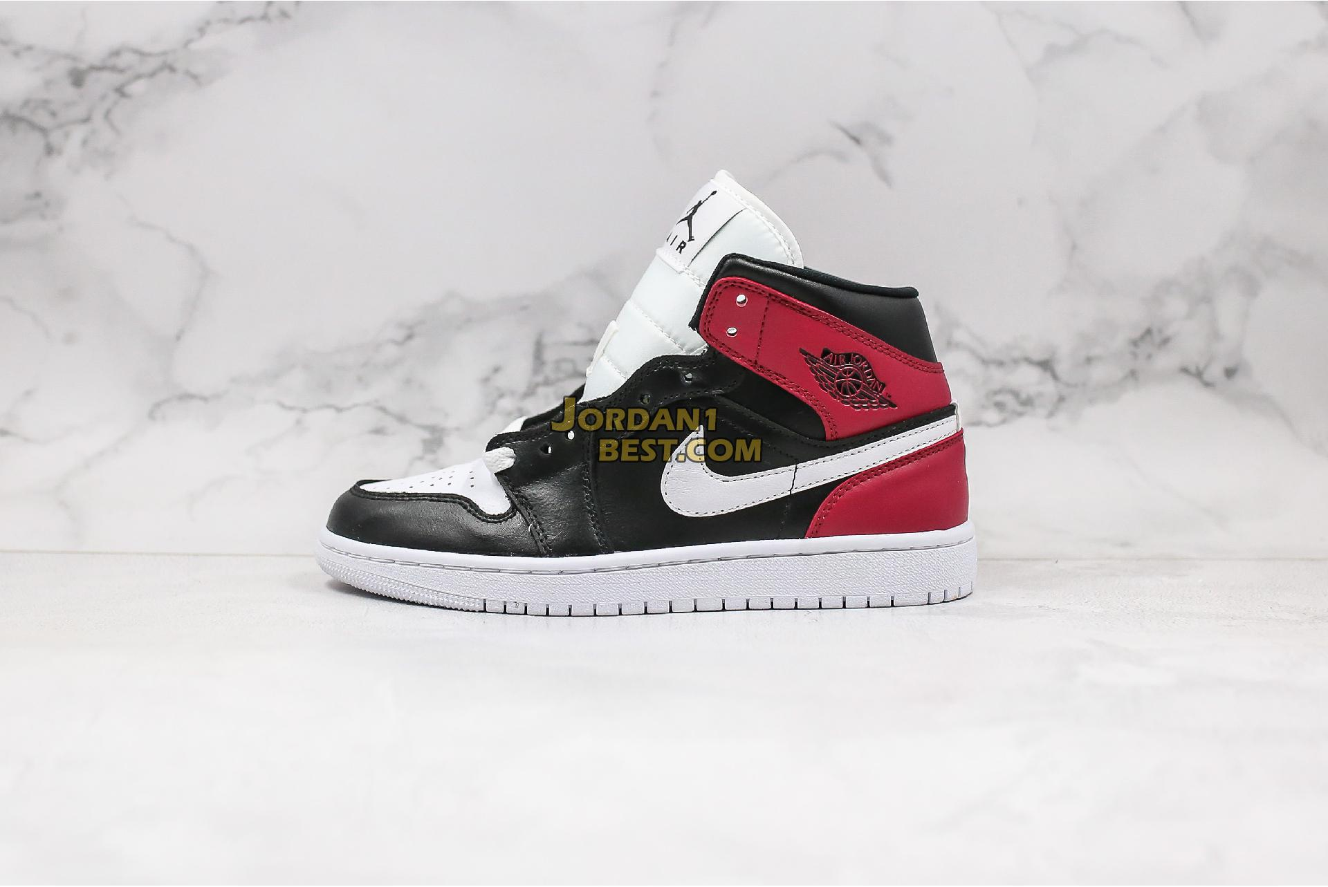"Air Jordan 1 Mid ""Noble Red"" BQ6472-016 Womens"