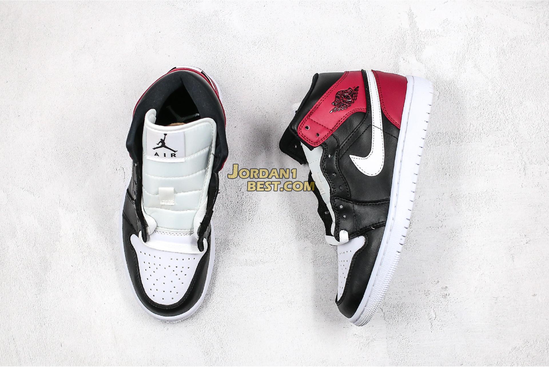 "Air Jordan 1 Mid ""Noble Red"" BQ6472-016 Womens"