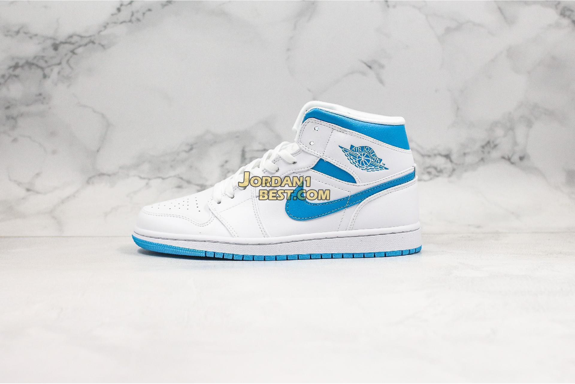 """Air Jordan 1 Mid """"UNC"""" BQ6472-114 Mens"""
