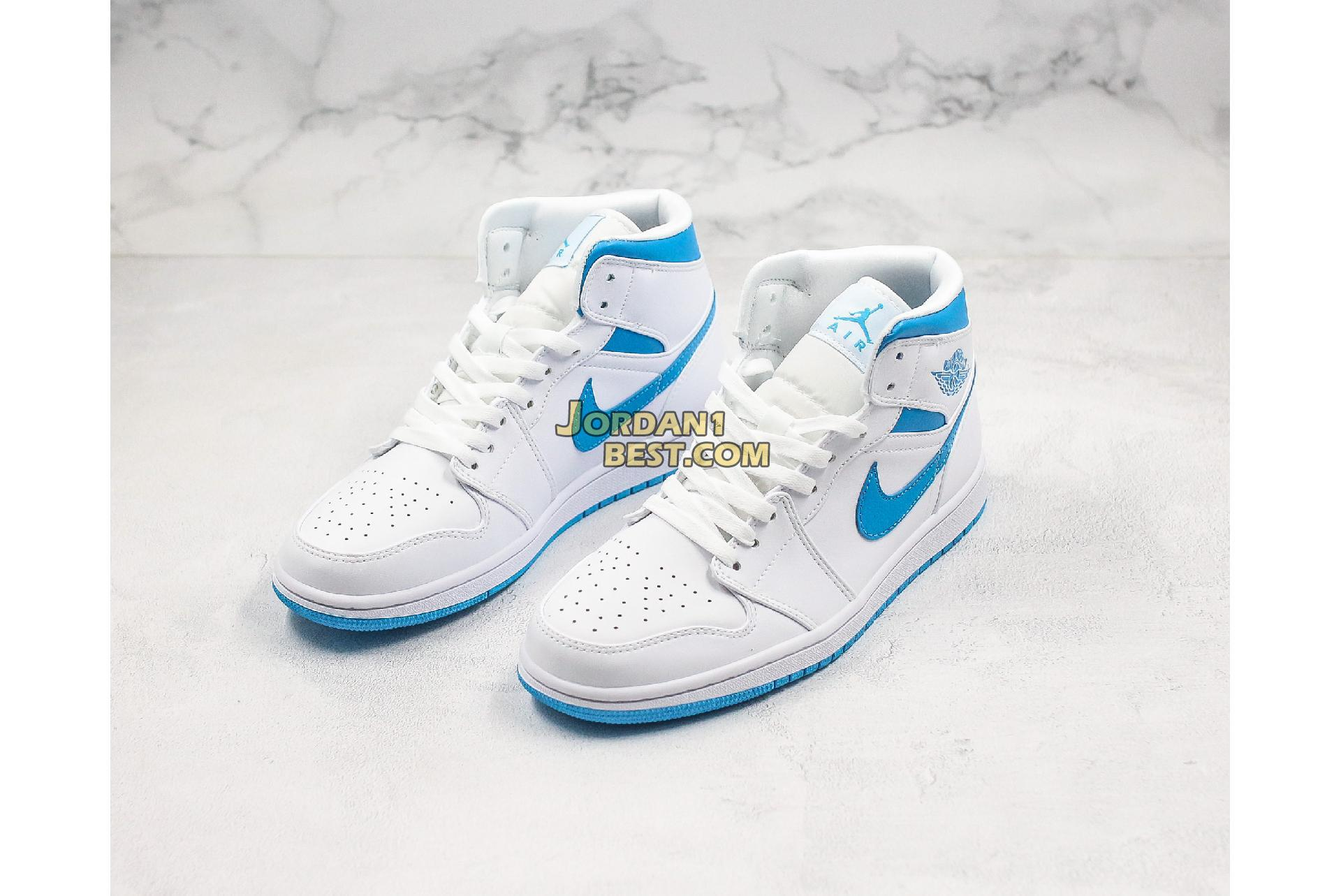 "Air Jordan 1 Mid ""UNC"" BQ6472-114 Mens"