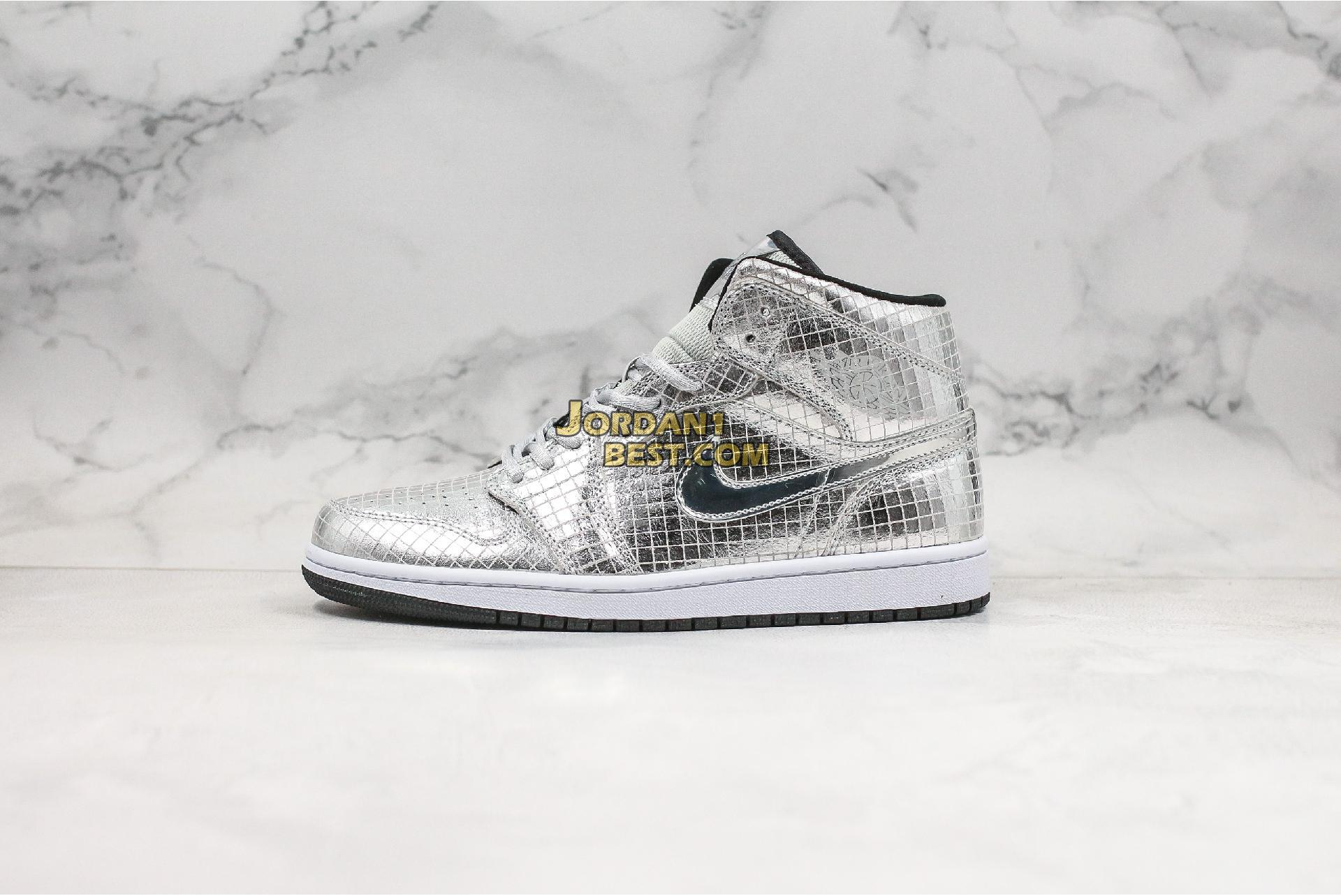 "Air Jordan 1 Mid SE ""Disco Ball"" CU9304-001‌ Mens Womens"