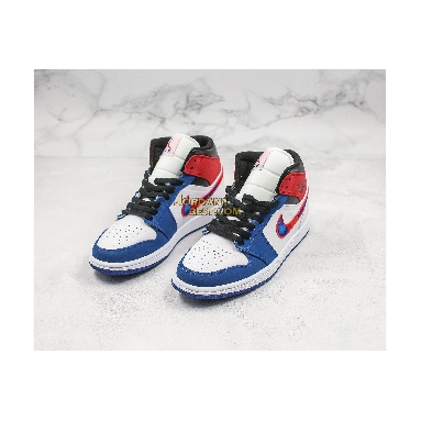 "fake Air Jordan 1 Mid ""Multicolored Swoosh"" 852542-146 Mens Womens white/game royal-gym red-black Shoes replicas On Wholesale Sale Online"