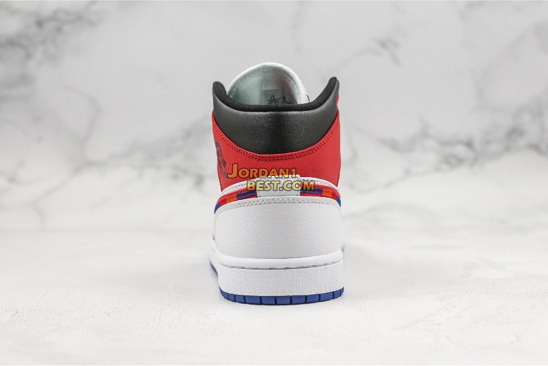"Air Jordan 1 Mid ""Multicolored Swoosh"" 852542-146 Mens Womens"