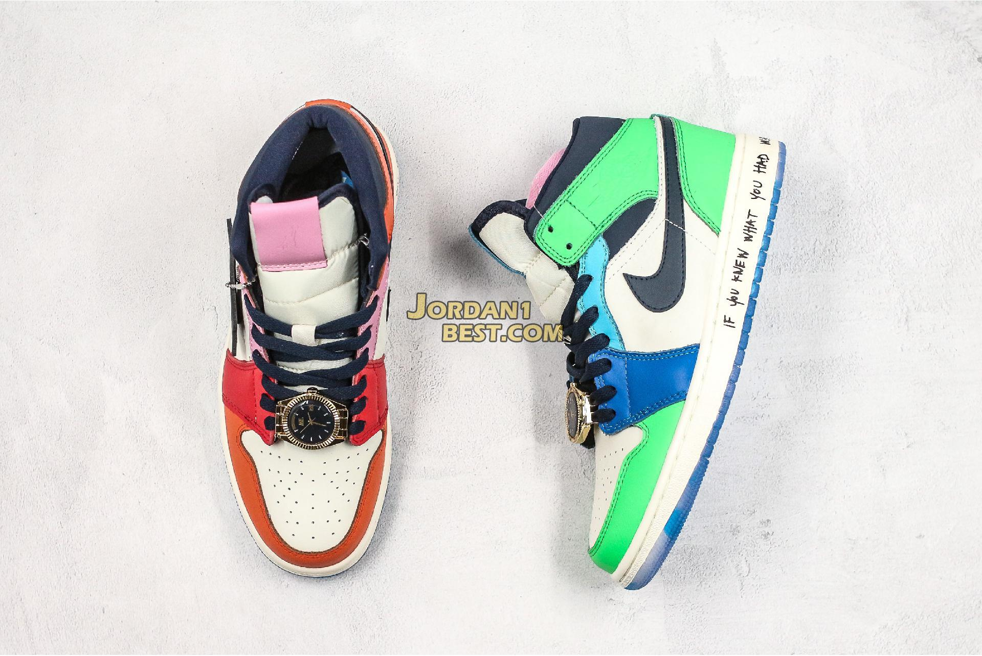 "Melody Ehsani x Air Jordan 1 Mid ""Fearless"" CQ7629-100 Mens Womens"