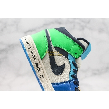"""fake Melody Ehsani x Air Jordan 1 Mid """"Fearless"""" CQ7629-100 Mens Womens white/black/half blue/habanero red Shoes replicas On Wholesale Sale Online"""