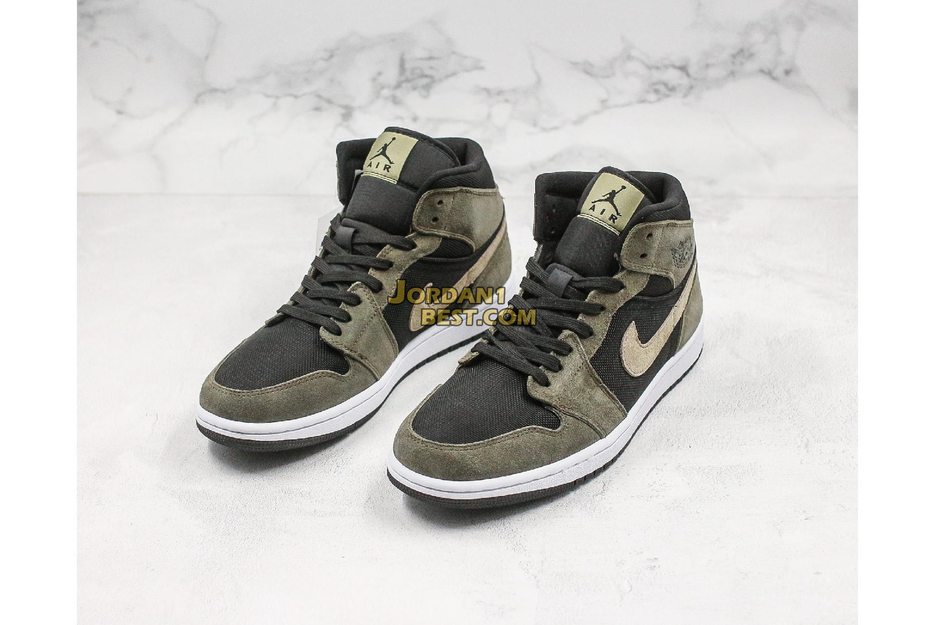 "Air Jordan 1 Mid ""Olive"" BQ6472-030 Mens Womens"