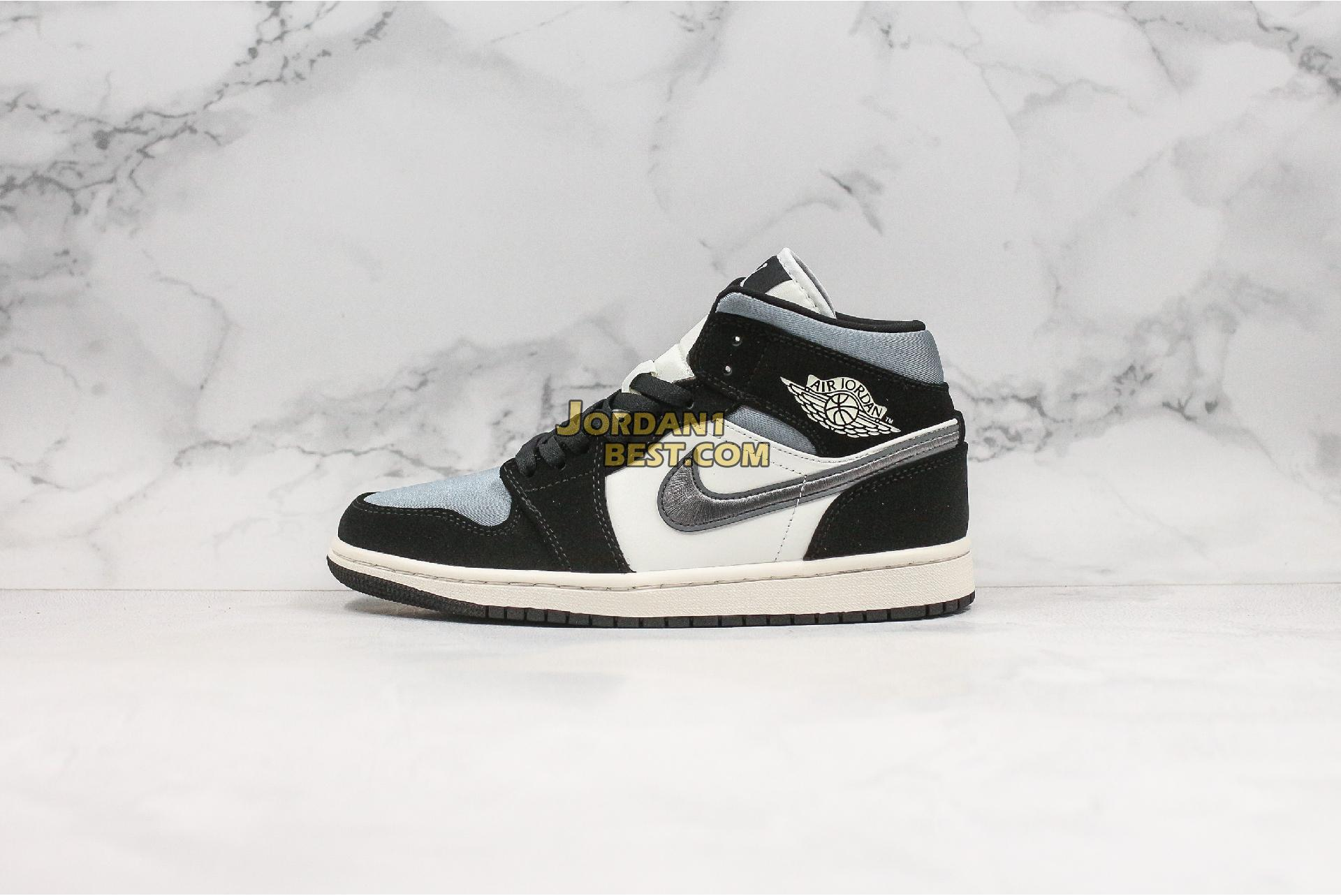 "Air Jordan 1 Mid SE ""Satin Smoke Grey"" 852542-011 Mens Womens"