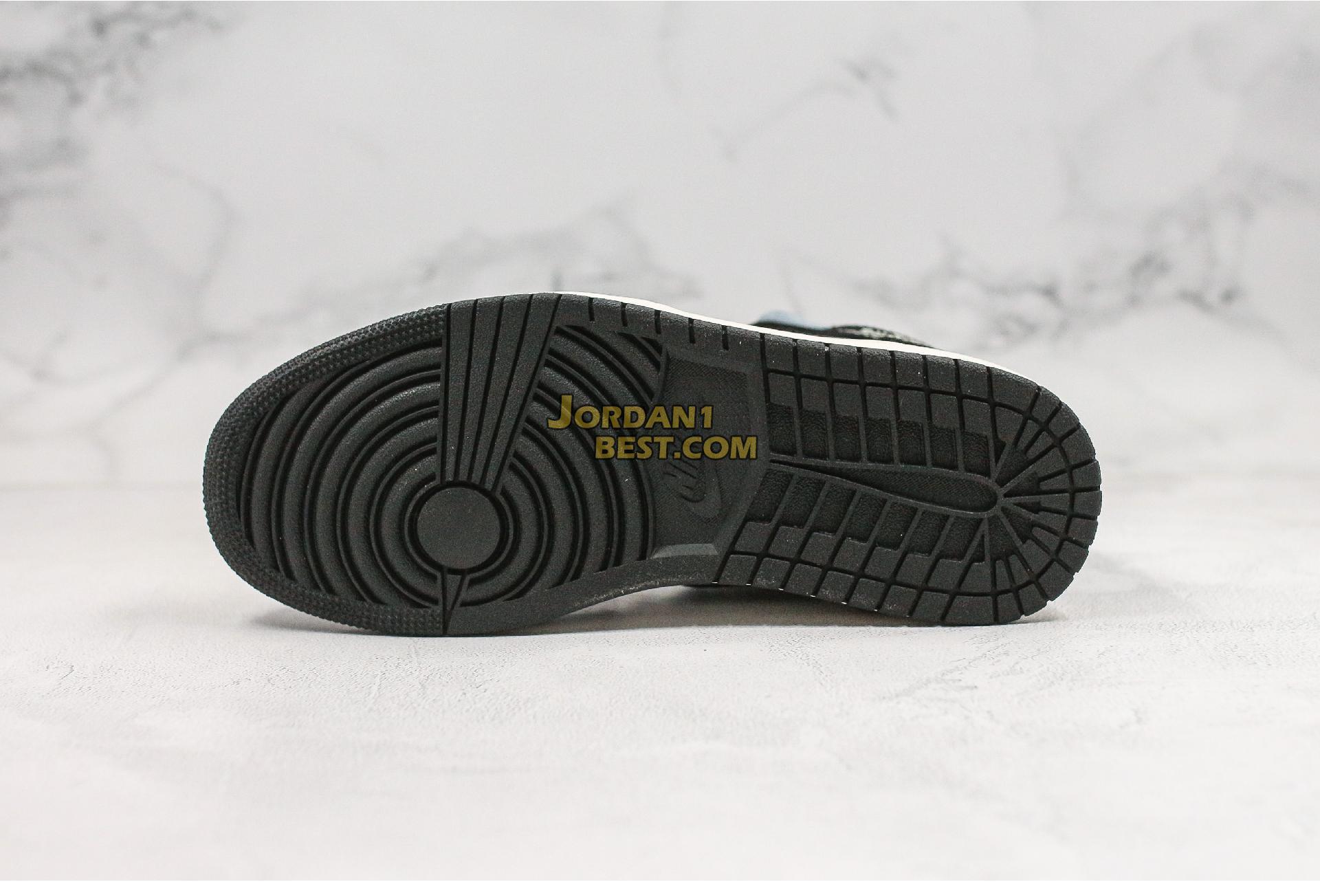 "Air Jordan 1 Mid SE ""Satin Smoke Grey"" 852542-011 Mens Womens"
