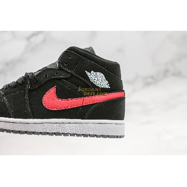 "top 3 fake Air Jordan 1 Retro Mid GS ""Black University Red"" 554725-065 Mens Womens black/varsity red-varsity royal-white-cement grey Shoes replicas On Wholesale Sale Online"