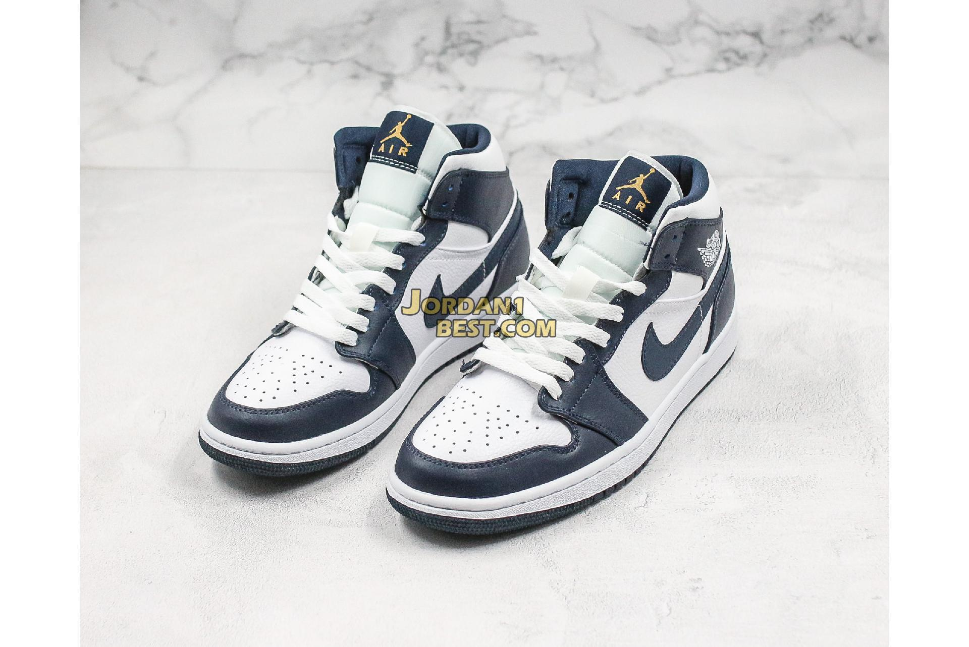 "Air Jordan 1 Mid GS ""Obsidian"" 554725-174 Mens Womens"